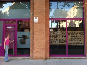 photo of the new yoga studio