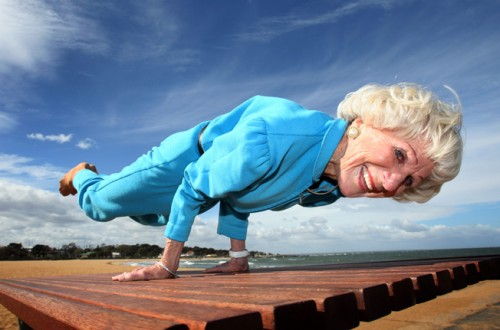 yoga old woman